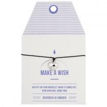 "Armband ""Make a wish"" Schwarz mit silbernem Herz"