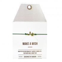 "Armband ""Make a wish"" Schlüssel Gold"