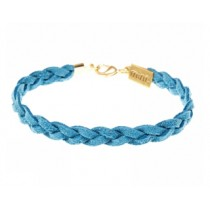 Armband Wildleder Blau