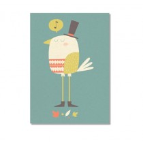 "Karte ""Paper & Cloth"" Happy Posh Bird"