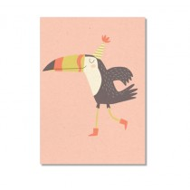 "Karte ""Paper & Cloth"" Happy Bird"