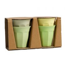 Bamboo Becher Set Green Mix
