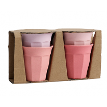 Bamboo Becher Set Rosa Mix