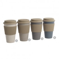 Bamboo To-go Becher Grey Mix