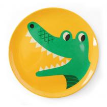 Melamin Kinderteller Krokodil