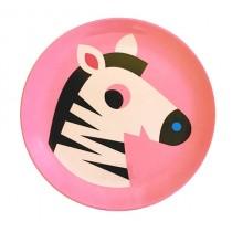 Melamin Kinderteller Zebra
