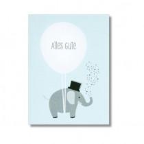 """Karte Papier Ahoi """"Alles Gute"""""""