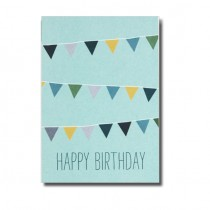 "Karte Papier Ahoi ""Happy Birthday Girlande"""