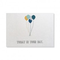 "Karte Papier Ahoi ""Today is your Day"""