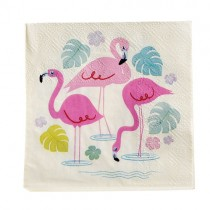 "Papierservietten ""Flamingos"""