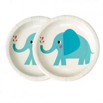 """Pappteller Set """"Elvis der Elefant"""""""