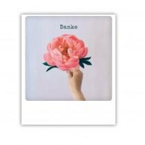 "Pickmotion Karte ""Danke mit Blüte"""