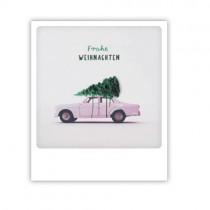 "Pickmotion Karte ""Frohe Weihnachten rosa Auto"""