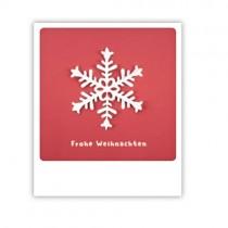"""Pickmotion Karte """"Frohe Weihnachten Schneeflocke rot"""""""