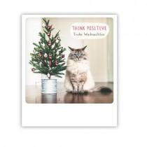 "Pickmotion Karte ""Think Positiv Katze"""