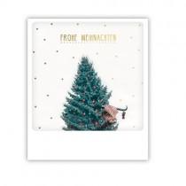 """Pickmotion Karte """"Frohe Weihnachten Galloway"""""""