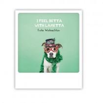"""Pickmotion Karte """"I feel betta with Lametta"""""""