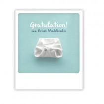 """Pickmotion Karte """"Gratulation zum Windelbomber"""""""