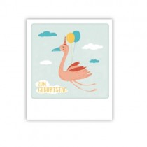 "Pickmotion Mini Pic Karte ""Zum Geburtstag ein Flamingo"""