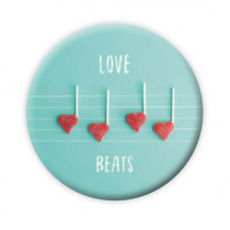 "Pickmotion Magnet 56mm ""Love Beats"""