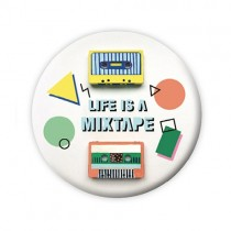 """Pickmotion Magnet 56mm """"Life is a Mixtape"""""""