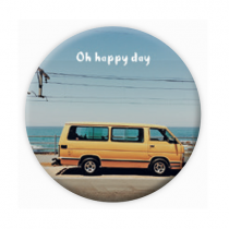 """Pickmotion Magnet 56mm """"Oh happy day"""""""