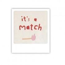 "Pickmotion Mini Pic Karte ""It's a match"""