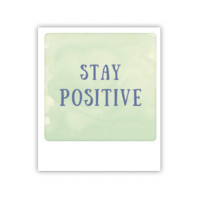"Pickmotion Mini Pic Karte ""Stay positiv"""