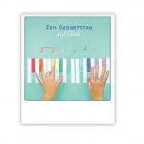 """Pickmotion Karte """"Klavierspiel zum Geburtstag"""""""