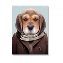 Karte mit Tierportrait Beagle