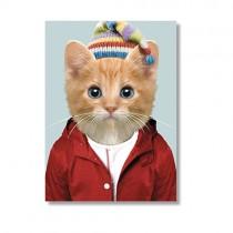 Karte mit Tierportrait Katze