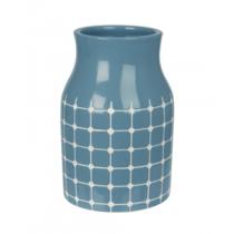 große Vase TILES Jeansblau