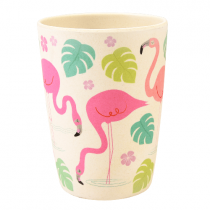 Bamboo Becher Flamingo