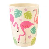 Bamboo Becher Flamingo