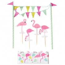Kuchen Dekoration Flamingos