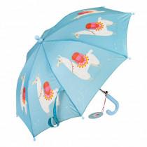 Kinder Regenschirm Lama