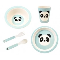 Happy Friends Bamboo Geschirr Set Panda