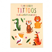 Fun Tattoo Set Bunte Tierfreunde