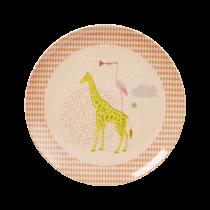 "Bambus Melamin Teller ""Safari"" Rosa"