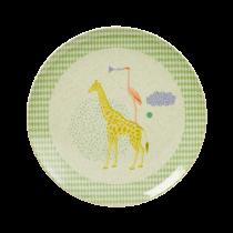 "Bambus Melamin Teller ""Safari"" Grün"