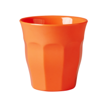 Melamin Becher Unifarben Neon Orange
