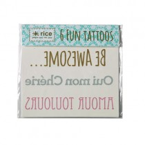 Fun Tattoo Set Words
