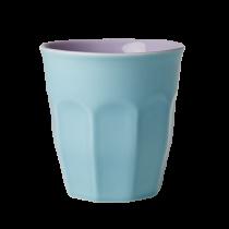 Großer Two Tone Becher Aqua & Lavendel