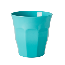 Melamin Becher Unifarben Aqua