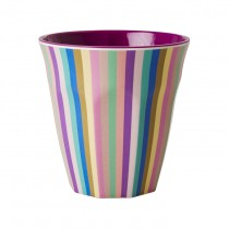 "Melamin Becher ""Multi Stripes"""