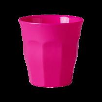 Melamin Becher Unifarben Neon Pink