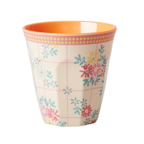 Melamin Becher Retro Flower