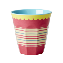 Melamin Becher Retro Stripes
