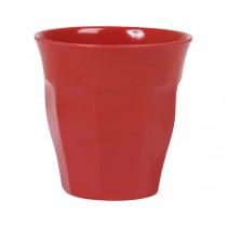 Melamin Becher Unifarben Rot