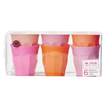 "Melamin Becher Set ""Today is Fun"" Orange & Pink"